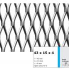 Tabla expandata 43  x 15  x 4 - Grilaje din tabla expandata - romb