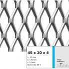 Tabla expandata 45  x 20  x 4 - Grilaje din tabla expandata - romb