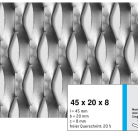 Tabla expandata 45 x 20 x 8 - Grilaje din tabla expandata - romb