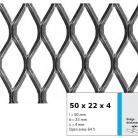 Tabla expandata 50 x 22 x 4 - Grilaje din tabla expandata - romb