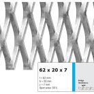 Tabla expandata 62 x 20 x 7 - Grilaje din tabla expandata - romb