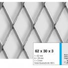 Tabla expandata 62 x 30 x 3 - Grilaje din tabla expandata - romb