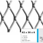 Tabla expandata 62 x 30 x 6 - Grilaje din tabla expandata - romb
