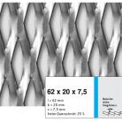 Tabla expandata 62 x 20 x 7.5 - Grilaje din tabla expandata - romb