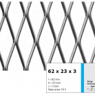 Tabla expandata 62 x 23 x 3 - Grilaje din tabla expandata - romb