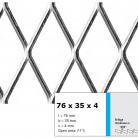 Tabla expandata 76 x 35 x 4 - Grilaje din tabla expandata - romb