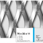 Tabla expandata 76 x 35 x 11 - Grilaje din tabla expandata - romb