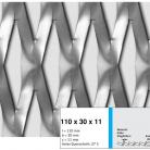 Tabla expandata 110 x 30 x 11 - Grilaje din tabla expandata - romb