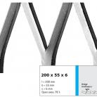 Tabla expandata 200 x 55 x 6 - Grilaje din tabla expandata - romb