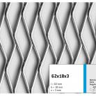 Tabla expandata 62x18x3 - Grilaje din tabla expandata - decorativa