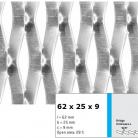 Tabla expandata 62x25x9 - Grilaje din tabla expandata - decorativa