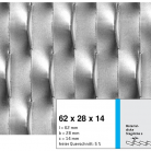 Tabla expandata 62x28x14 - Grilaje din tabla expandata - decorativa
