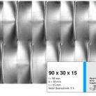Tabla expandata 90x30x15 - Grilaje din tabla expandata - decorativa