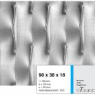 Tabla expandata 90x38x18 - Grilaje din tabla expandata - decorativa