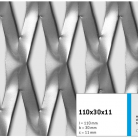 Tabla expandata 110x30x11 - Grilaje din tabla expandata - decorativa