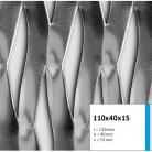 Tabla expandata 110x40x15 - Grilaje din tabla expandata - decorativa