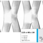 Tabla expandata 115x48x18 - Grilaje din tabla expandata - decorativa