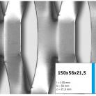 Tabla expandata 150x56x21.5 - Grilaje din tabla expandata - decorativa