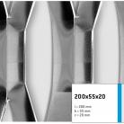 Tabla expandata 200x55x20 - Grilaje din tabla expandata - decorativa