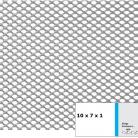 Tabla expandata 10x7x1 - Grilaje din tabla expandata - hexagonal/rotund
