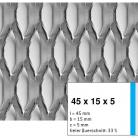 Tabla expandata 45x15x5 - Grilaje din tabla expandata - hexagonal/rotund