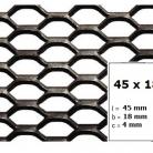 Tabla expandata 45x18x4 - Grilaje din tabla expandata - hexagonal/rotund