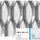 Tabla expandata 100x34x10 - Grilaje din tabla expandata - hexagonal/rotund