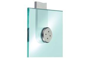 Sisteme complexe de fixare a sticlei Sisteme de fixare SADEV DECOR - permit fixarea panourilor de sticla (8 pana la 12mm standard) pe  structuri existente; diverse diametre si tipuri de gauri - frezate  tronconic sau cilindrice.