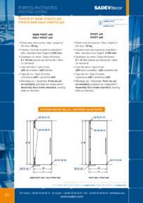 Sistem pentru usi pivotante - D25 SADEV DECOR