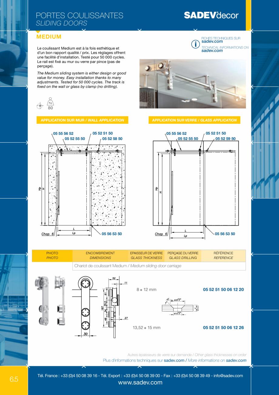Pagina 1 - Sistem pentru usi glisante - MEDIUM SADEV DECOR Sisteme usi glisante Fisa tehnica Engleza...