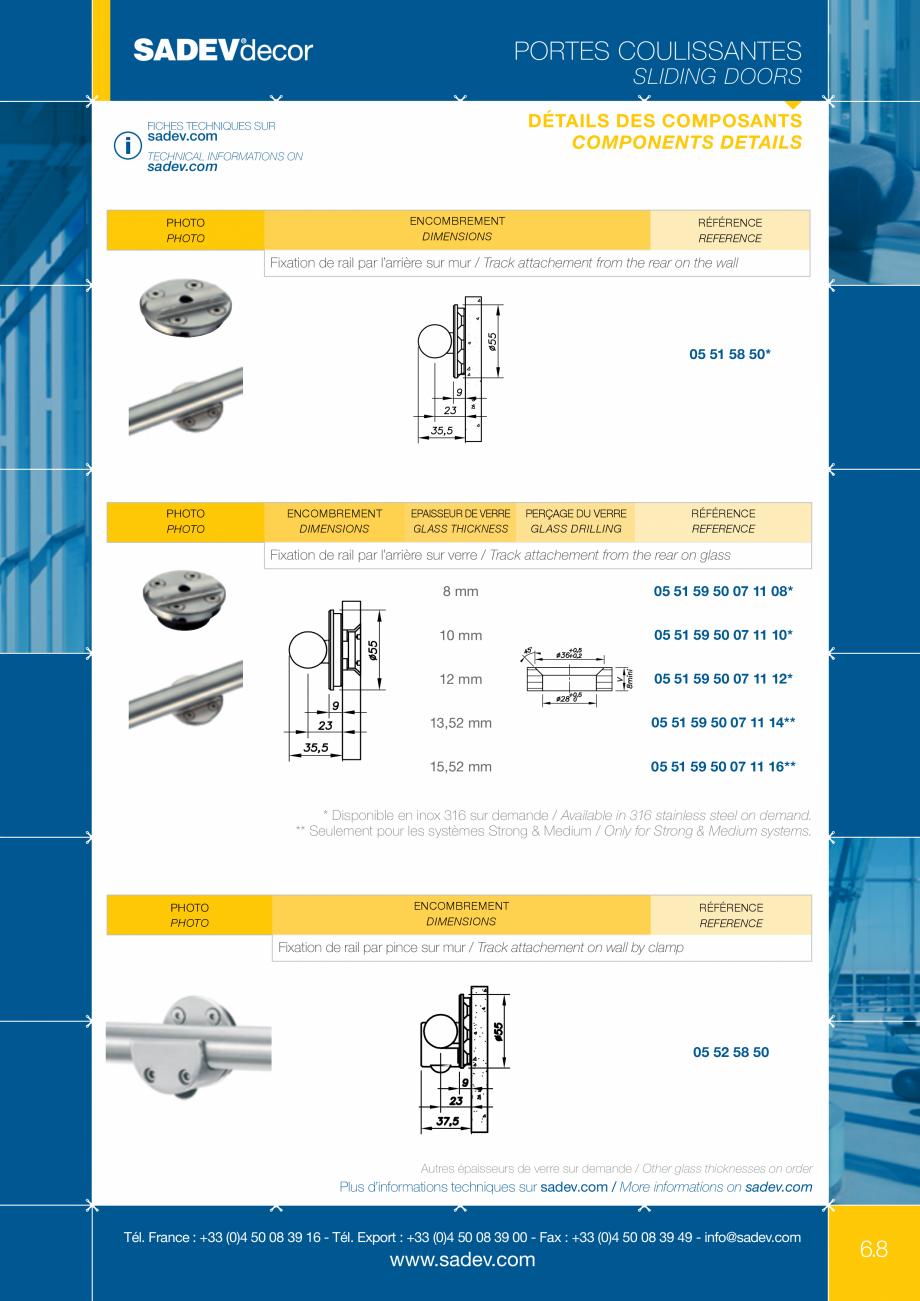 Pagina 2 - Sistem pentru usi glisante - MEDIUM SADEV DECOR Sisteme usi glisante Fisa tehnica Engleza...
