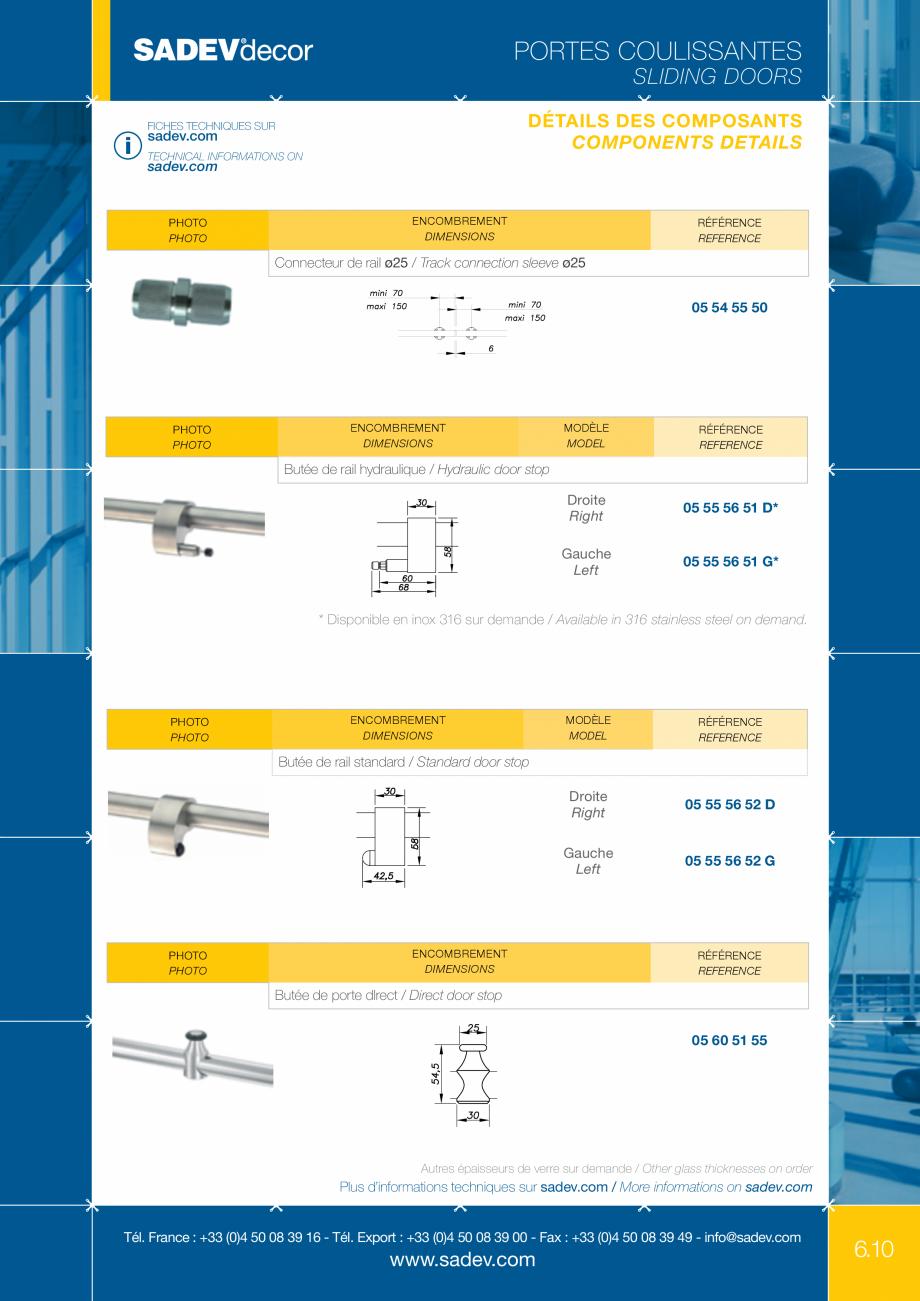 Pagina 4 - Sistem pentru usi glisante - MEDIUM SADEV DECOR Sisteme usi glisante Fisa tehnica Engleza...