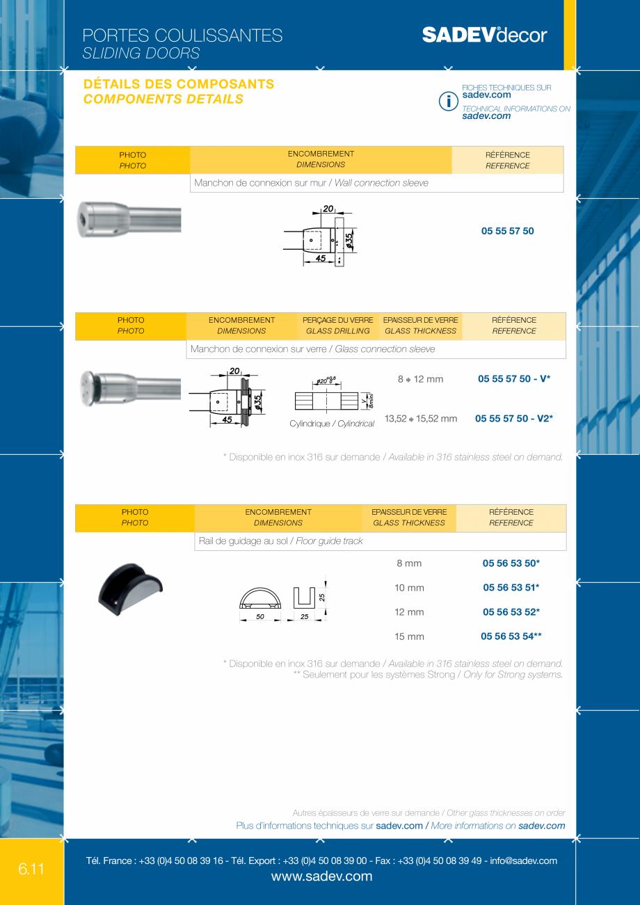 Pagina 5 - Sistem pentru usi glisante - MEDIUM SADEV DECOR Sisteme usi glisante Fisa tehnica Engleza...