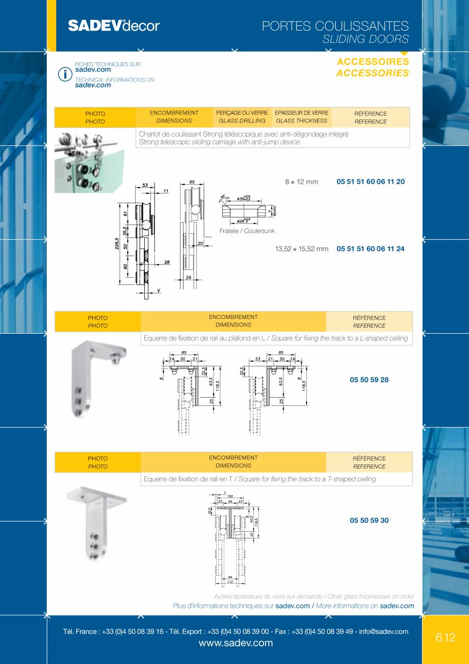 Pagina 6 - Sistem pentru usi glisante - MEDIUM SADEV DECOR Sisteme usi glisante Fisa tehnica Engleza...