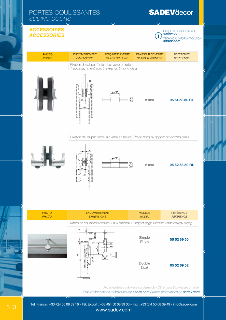 Pagina 7 - Sistem pentru usi glisante - MEDIUM SADEV DECOR Sisteme usi glisante Fisa tehnica Engleza...