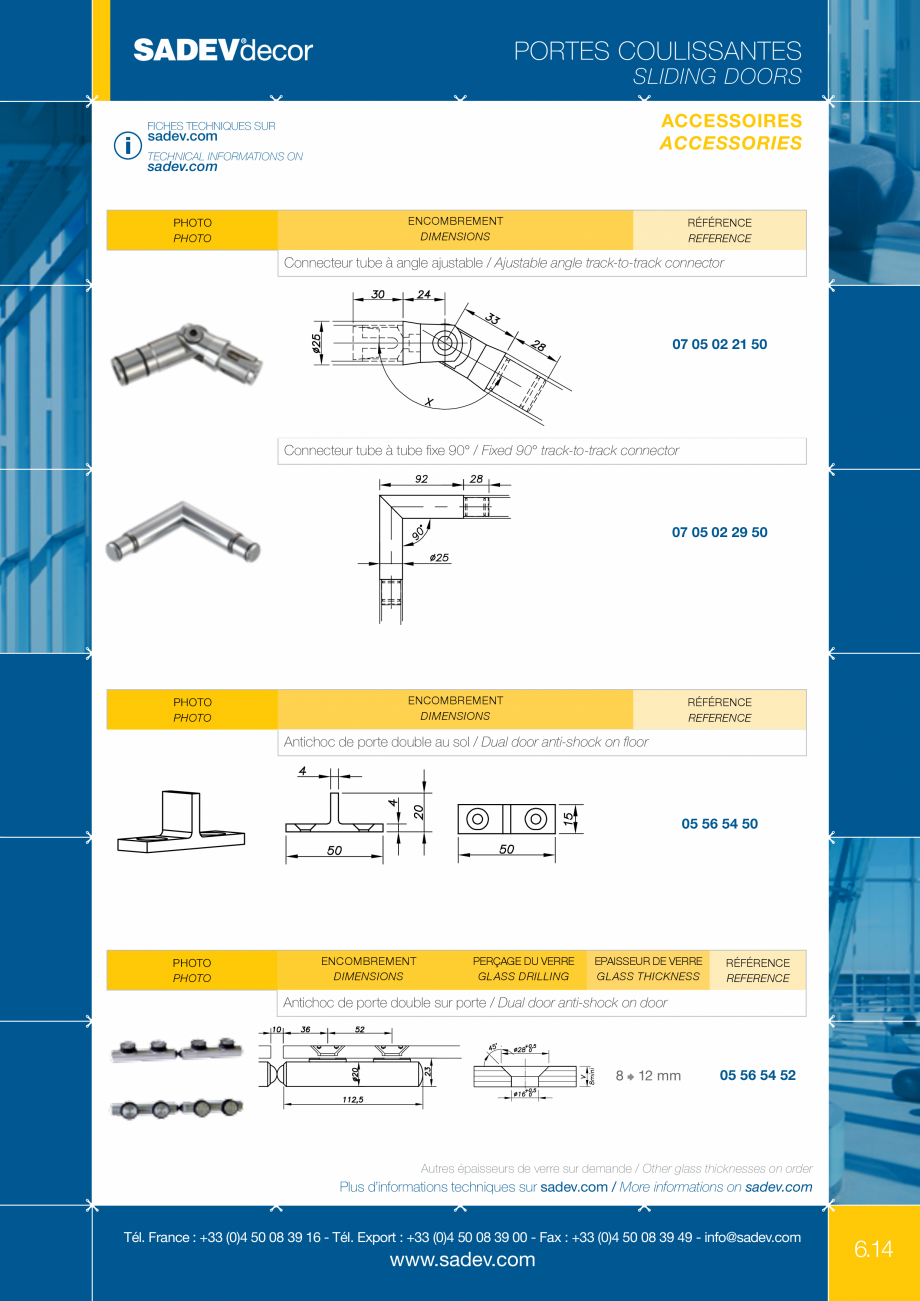Pagina 8 - Sistem pentru usi glisante - MEDIUM SADEV DECOR Sisteme usi glisante Fisa tehnica Engleza...