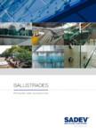 Sistem din aluminiu pentru balustrade din sticla  SADEV