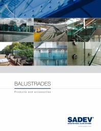Sistem din aluminiu pentru balustrade din sticla