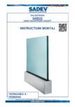 Instructiuni montaj balustrada din sticla SADEV -  SABCO