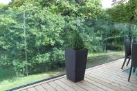 Sistem din aluminiu pentru balustrade din sticla fara montanti