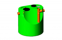 Separatoare de grasimi, amidon si particule inerte Separatorul de grasimi din polietilena New Design Composite este un vas de limpezire cu functii de separare si indepartare prin sedimentare a materialelor cu greutate mare.