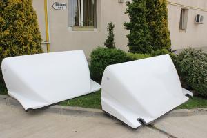 Paravanturi auto din rasini poliesterice  New Design Composite SRL produce si comercializeaza paravanturi auto realizate din rasini poliesterice armate cu fibra de sticla pentru utilitare de 3,5 tone.