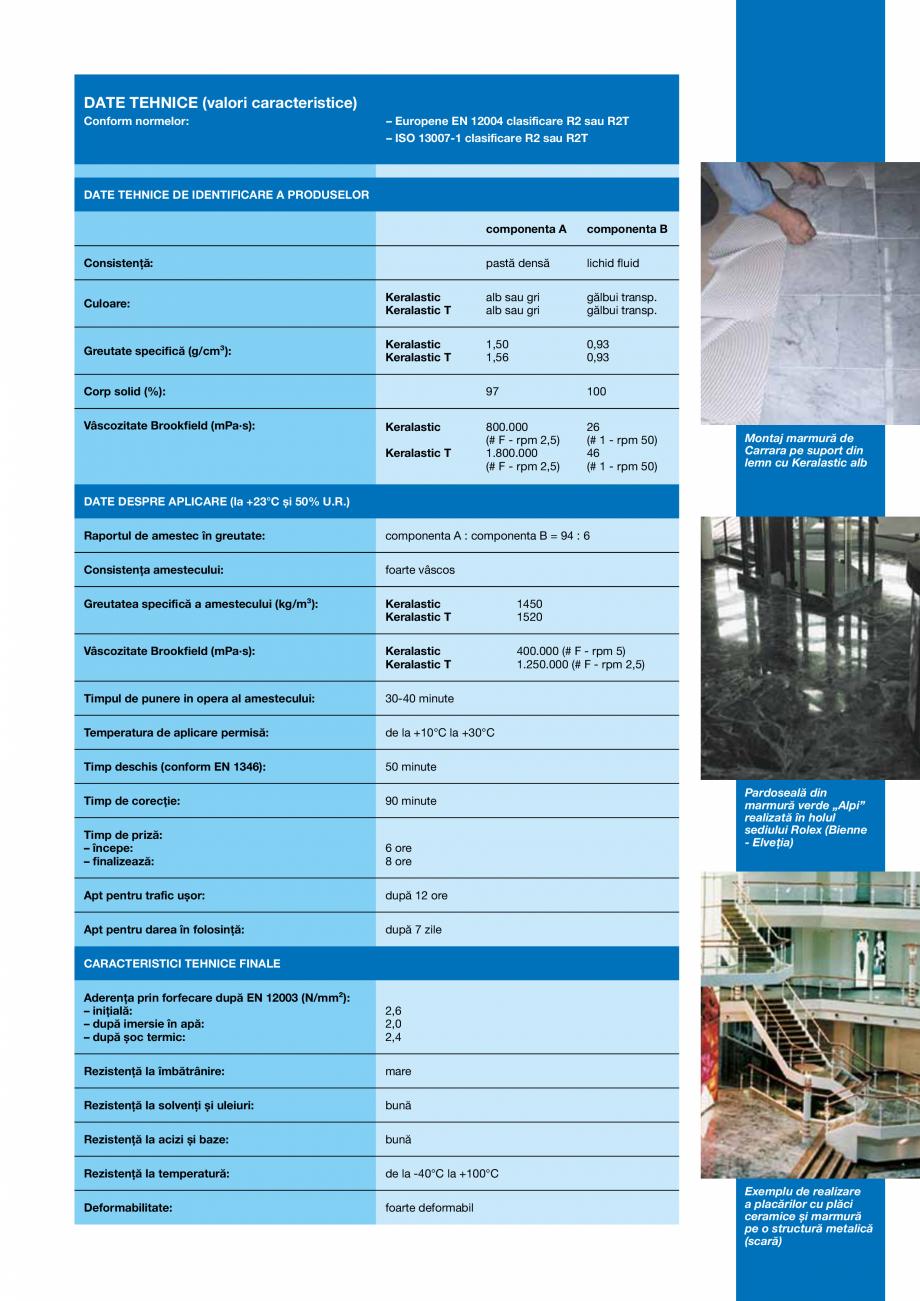 Pagina 3 - Adezivi poliuretanici bicomponenti, de inalta performanta pentru placi ceramice si placi ...