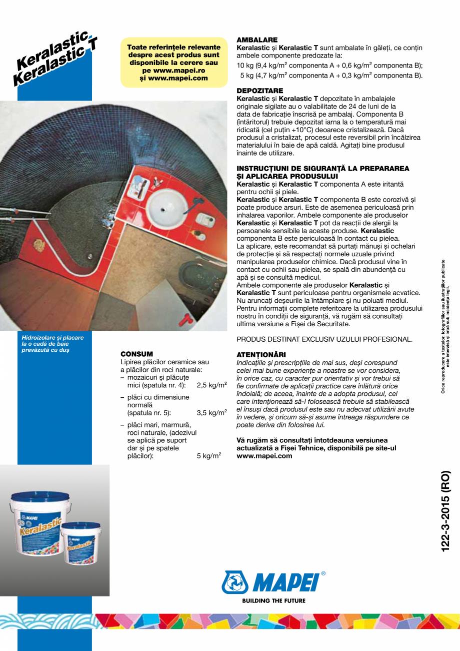 Pagina 4 - Adezivi poliuretanici bicomponenti, de inalta performanta pentru placi ceramice si placi ...