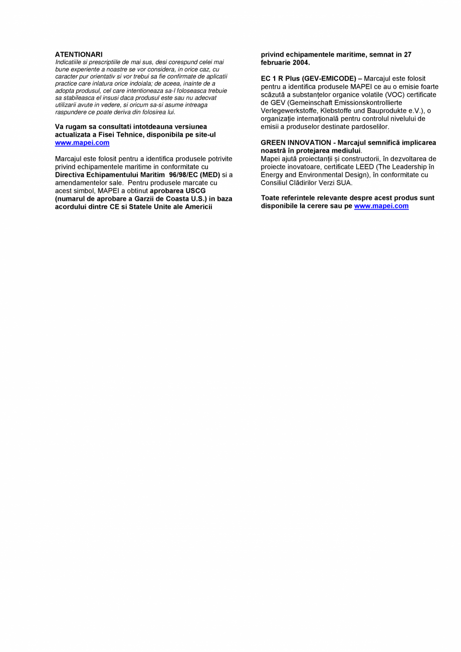 Pagina 3 - Adeziv poliuretanic bicomponent, de inalta performanta, fara solventi, cu o emisie foarte...