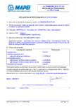 Declaratie de performanta pentru adeziv pe baza de rasini reactive imbunatatit MAPEI - ULTRABOND ECO PU
