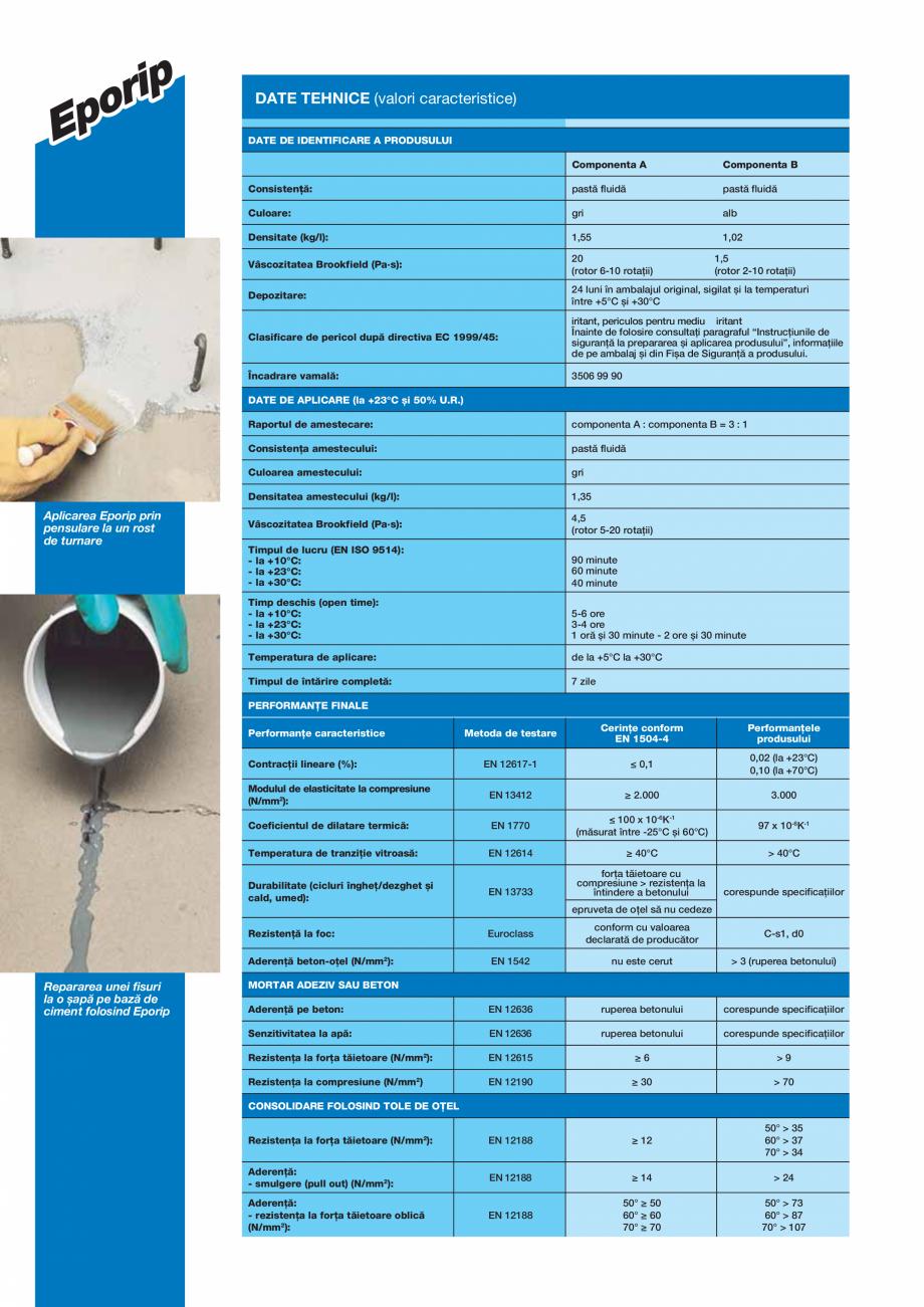 Pagina 2 - Adeziv epoxidic bicomponent, fără solvenţi pentru rosturi în construcţii și...