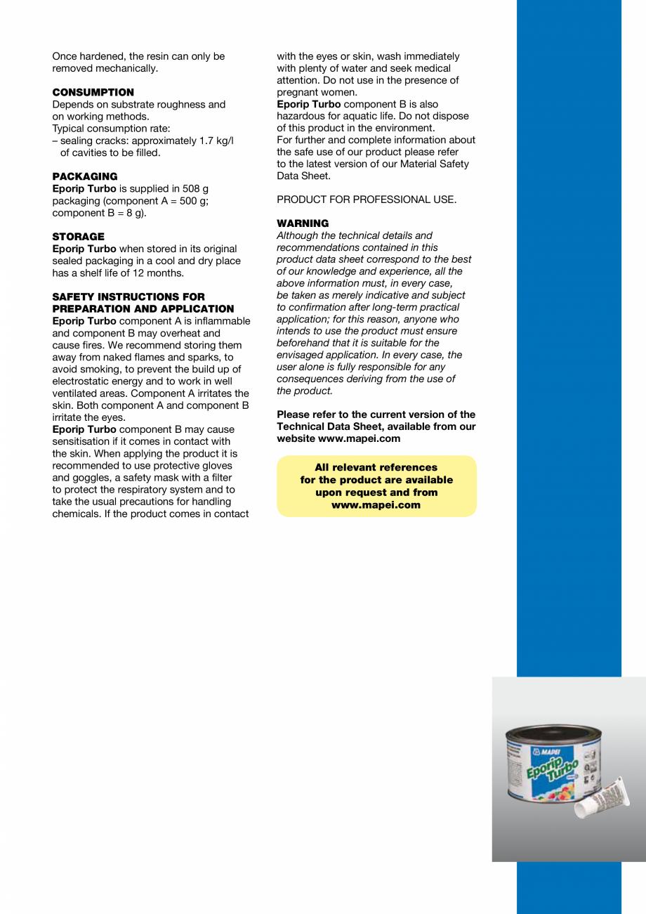 Pagina 3 - Rasina poliesterica bicomponenta cu priza rapida pentru repararea si monolitizarea...