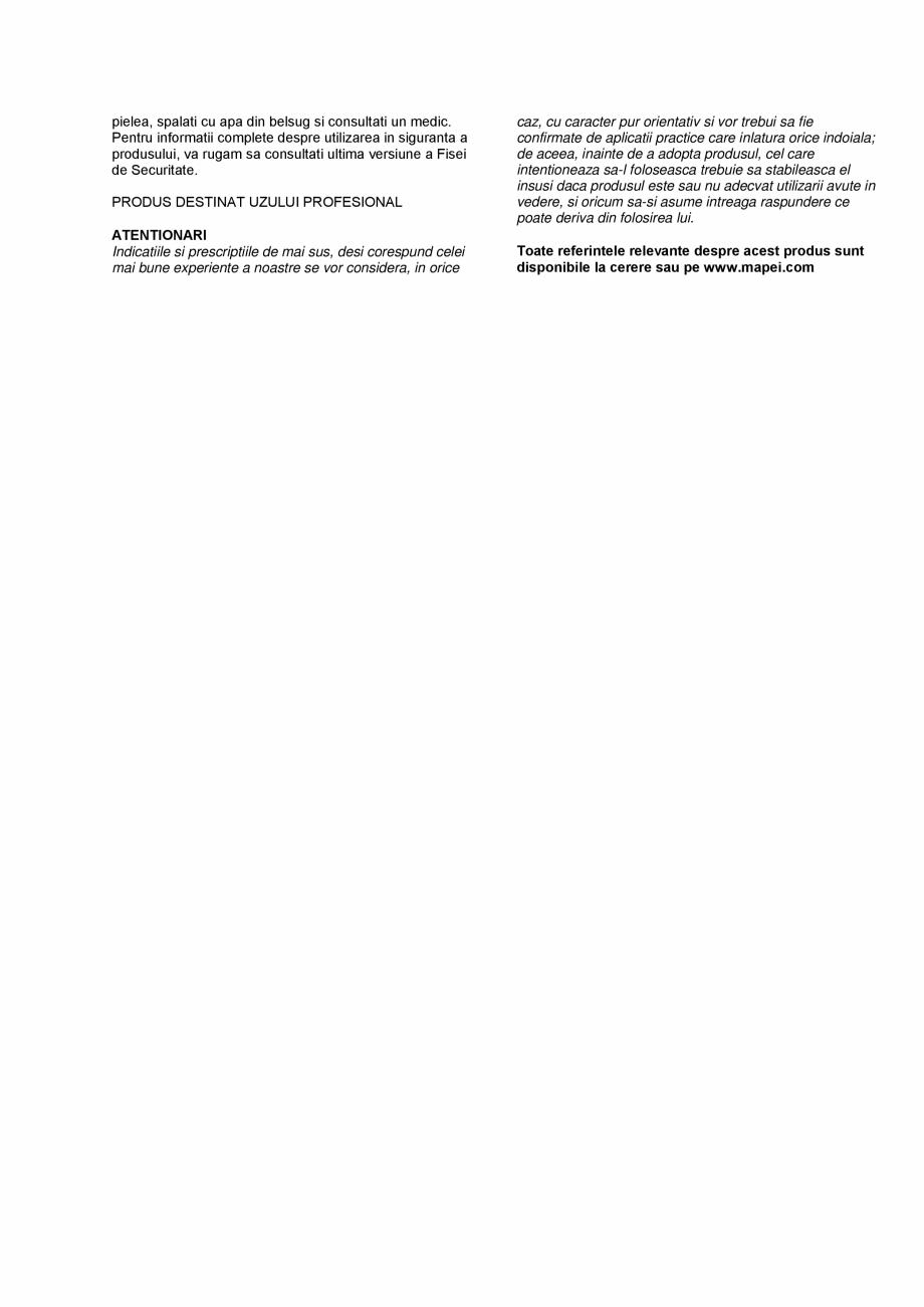 Pagina 3 - Mortar fibroranforsat tixotropic cu rezistenta medie (40 MPa) pentru repararea betonului ...