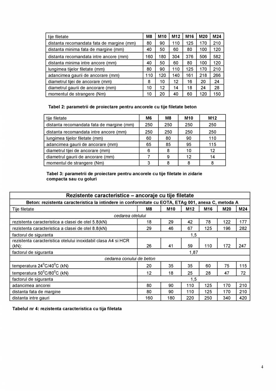Pagina 4 - Ancora chimica pentru incarcari grele  MAPEI MAPEFIX PE SF Fisa tehnica Romana cartusul...